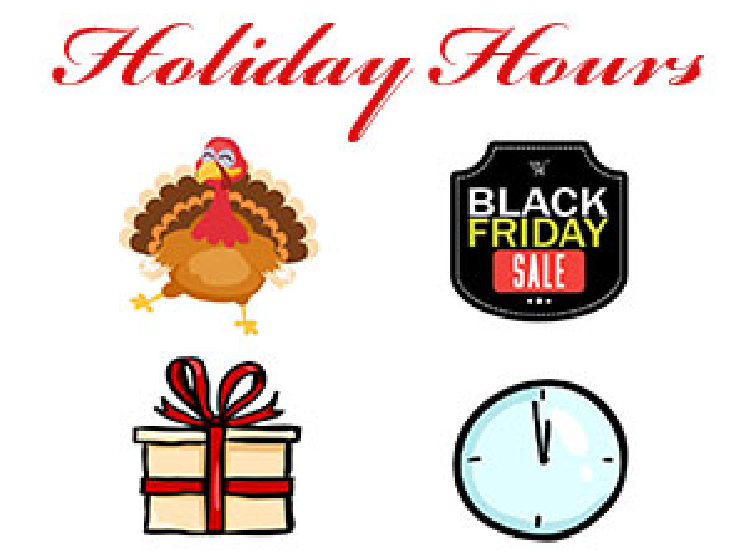 Holiday Hours icons
